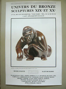 DW-SIMEON-Affiche-originale-Gorille-Sculpture-Singe-Univers-du-Bronze-Monkey
