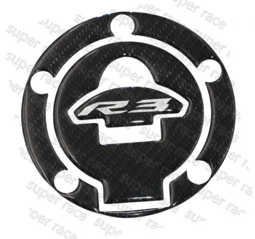 New Style 3D Carbon Fiber Gas Cap Tank Cover Pad Sticker For YAMAHA YZF-R3 2015