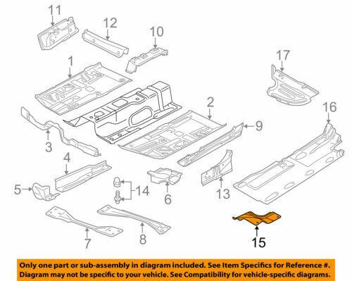 1Set 0EM L/&R Bottom Floor Rails Splash Shield Cover+Bungs For VW Passat B6 B7 CC