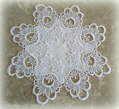 """Doily Lace 12""""   DECADENT WHITE"""
