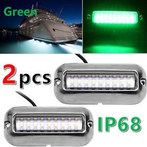 "3.5/"" Stainless Steel 27 LED 50W Underwater Pontoon Marine//Boat Transom Light"