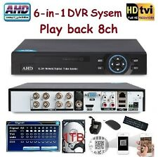 Sunvision 8Ch AHD Hybrid 1080P /TVI Network DVR for IP/AHD/Analog Camera 1TB HDD