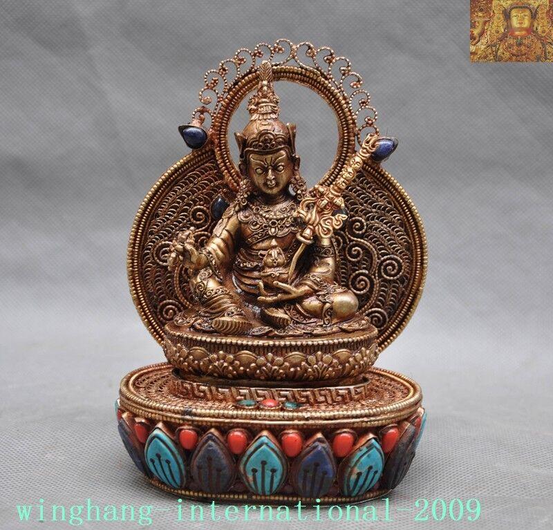 24Pcs Newest Carved Tibetan gold Pendant Bead 19x12x4mm yl061007