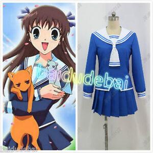 Fruits Basket Tohru Honda School Uniform Cosplay Costume ...