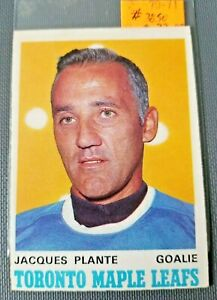 1970-71-O-Pee-Chee-222-Jacques-Plante-Maple-Leafs-FREE-COMBINED-SHIPPING