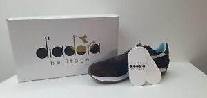 Diadora-Heritage-Sneakers-Uomo-Equipe-Evi-II-Blu-Marrone-New-Sconto-50