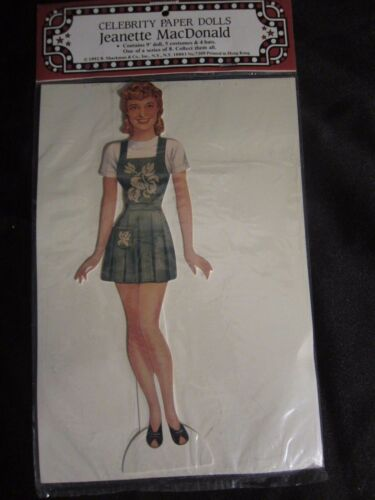 Vintage-style Jeanette MacDonald Celebrity Paper Doll Shackman 1992 Dress Up