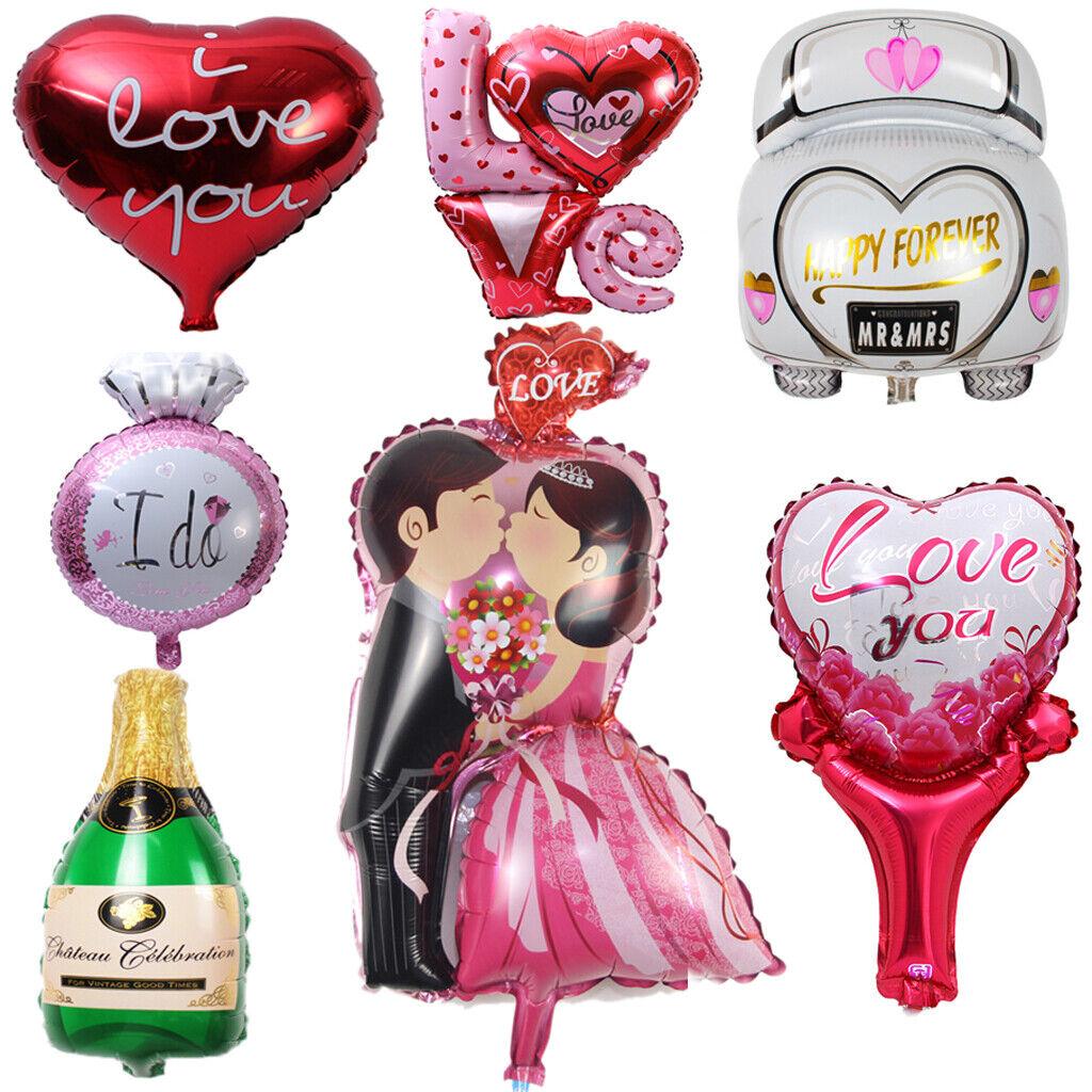 [] XM boda ceremonia Amor Foil Balloon Decoración selección de fiesta de compromiso