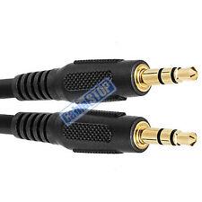 2 metre BLACK 3.5mm AUX Stereo Jack Cable 2m BUDGET AUDIO LEAD