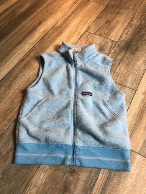 Patagonia Kids Baby Blue Fleece Vest Size Medium Ebay
