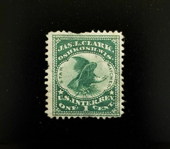 U.S. Internal Revenue 1c RO62b James L. Clark Matches,