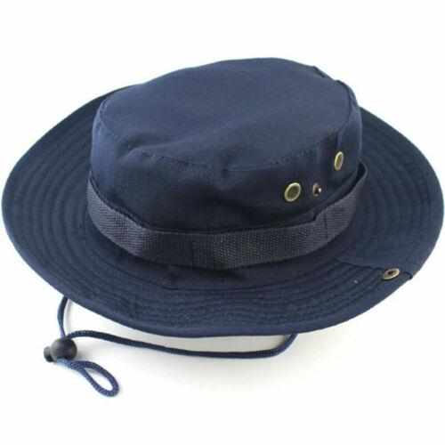 UK Ourdoor Sun Hat Bucket Cargo Safari Bush Boonie Fishing Hats Cap Mens Womens