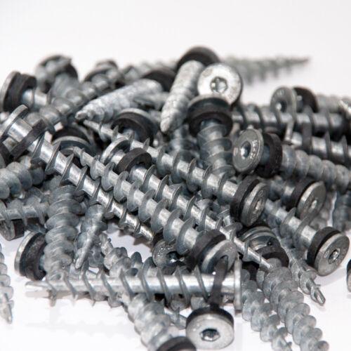100 Isolierdübel Dübel Schraube Spiraldübel Dämmstoffdübel 65mm für Styropor