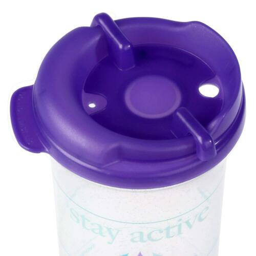 Purple 32oz Car Friendly Time Marked Water Bottle with Swivel Lid and Straw
