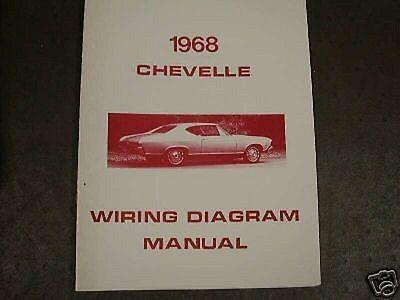 1968 chevrolet chevelle wiring diagram manual  ebay