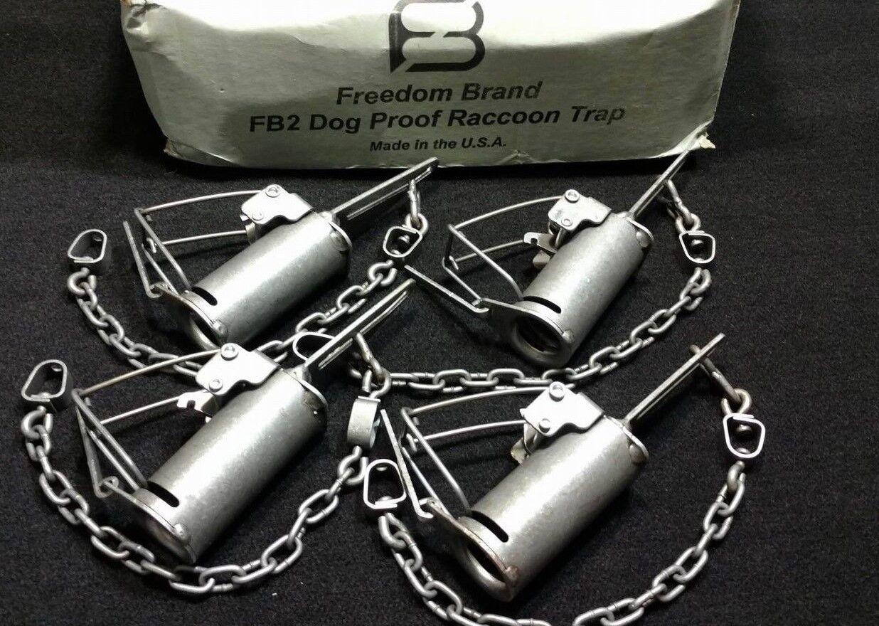 4 FREEDOM marca FB2 Perro prueba trampa de captura mapache trap trampa de supervivencia
