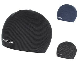 Columbia Whirlibird Watch Cap Beanie Black Gray Navy Knit One Size ... 4870bba1678