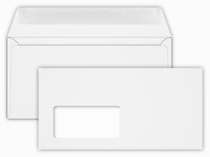 22 x 11 cm 25x Envelopes with Window-White-DIN Long