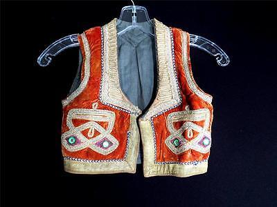 Begeistert Sehr Selten Jungen Vintage 1950's Türkisch Velvet Metallisch Abgeschnitten Weste