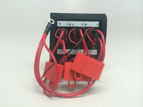 MARINE BOAT 6 GANG SPLASHPROOF SWITCH PANEL IP65 FUSES 15Ax3 LED INDICATOR