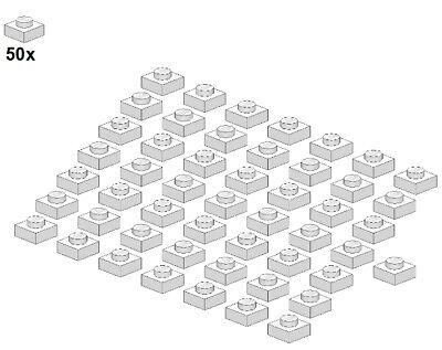 3024-05 1x1 LEGO® Plates 50Stk - Platte Weiß White