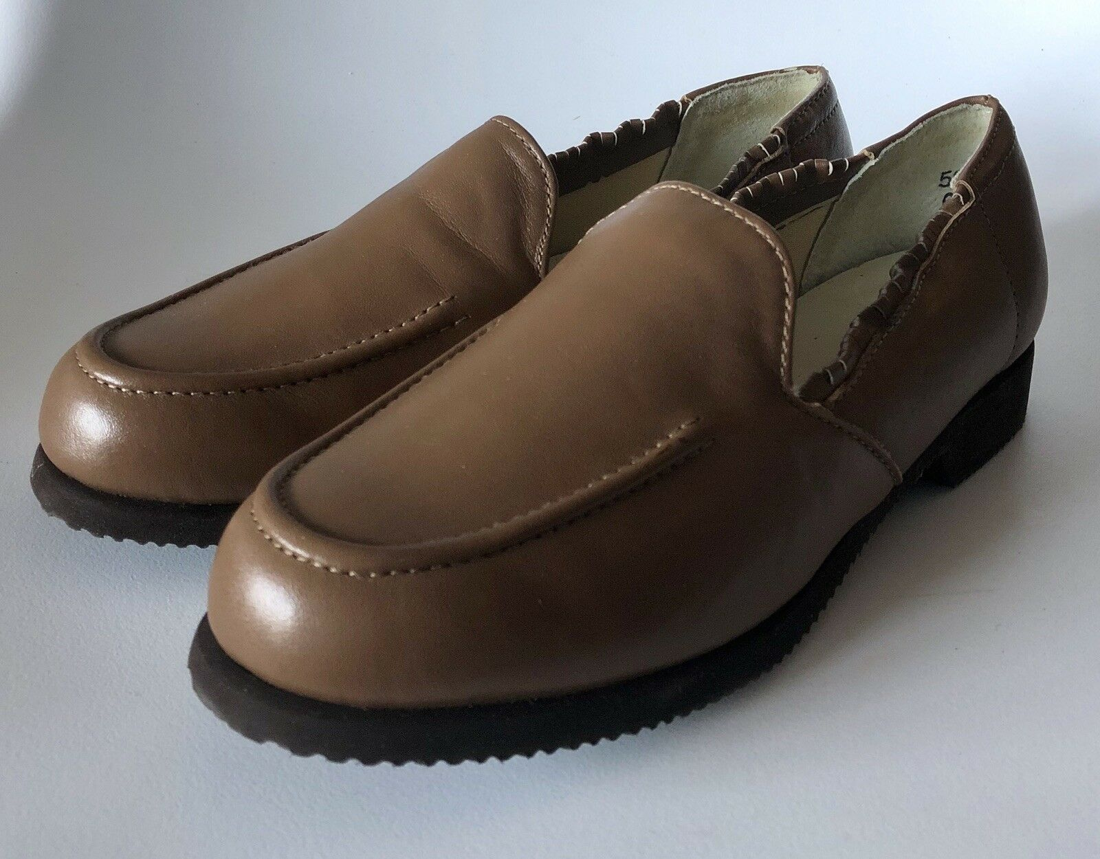 Hush Puppies New Vintage Brown Hard Sole Slippers 6.5W New Dutchess Wallaby Cork