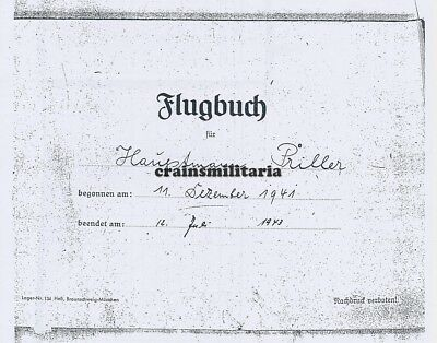 Kopie Flugbuch Sammeln & Seltenes 1918-1945 Leistungsbuch Breithaupt KG55 KG30 NJG2 Holland Italien 1939-45