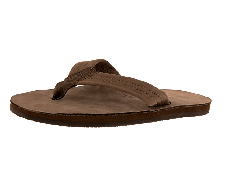 RAINBOW SANDALS Damens Single Layer Premier Leder with Arch Support