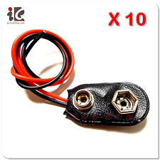 10 x 9V 9-Volt Battery Clip / Snap on Connector - USA Seller - Free Shipping