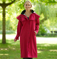 Ladies Country Estate Full Length Waterproof Coat Walking Riding 3 Cols 10-20