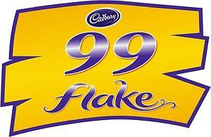 99 flake sticker cadbury ice cream van bonnet door logo