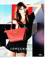 PUBLICITE ADVERTISING 106  2015   le sac Longchamp pliage Heritage       171016