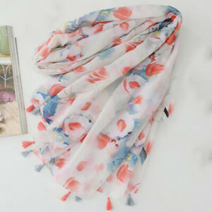 Women-039-s-Fashion-Print-Cotton-Scarf-Sunscreen-Beach-Shawl-Stole-Wraps-G
