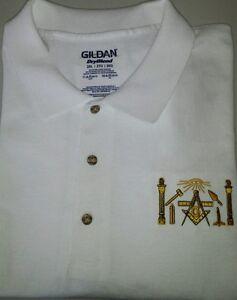 749b3e19 Image is loading Freemason-Masonic-symbols-Embroidered-Polo-Shirt -Mason-Shriner-