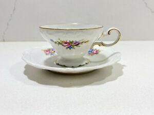 Vintage-Rosenthal-Demitasse-Cup-amp-Saucer-SELB-BAVARIA-POMPADOUR-Floral