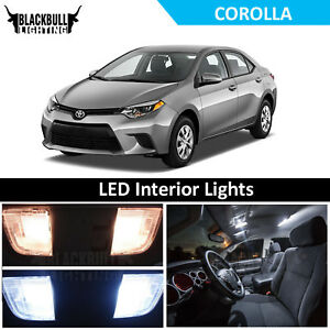 WHITE LED Interior Lights Replacement Kit for 2015-2018 Toyota Corolla 6 bulbs
