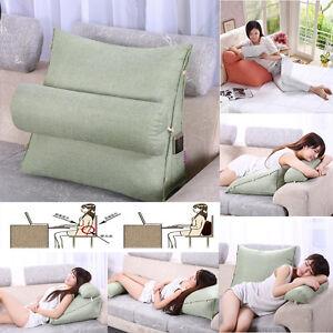 Bedrest Adjustable Pillow Back Support Tv Reading Bed Rest