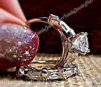 Vintage Estate Style Round Cut Simulated Diamond Engagement Ring Wedding Set 5-9