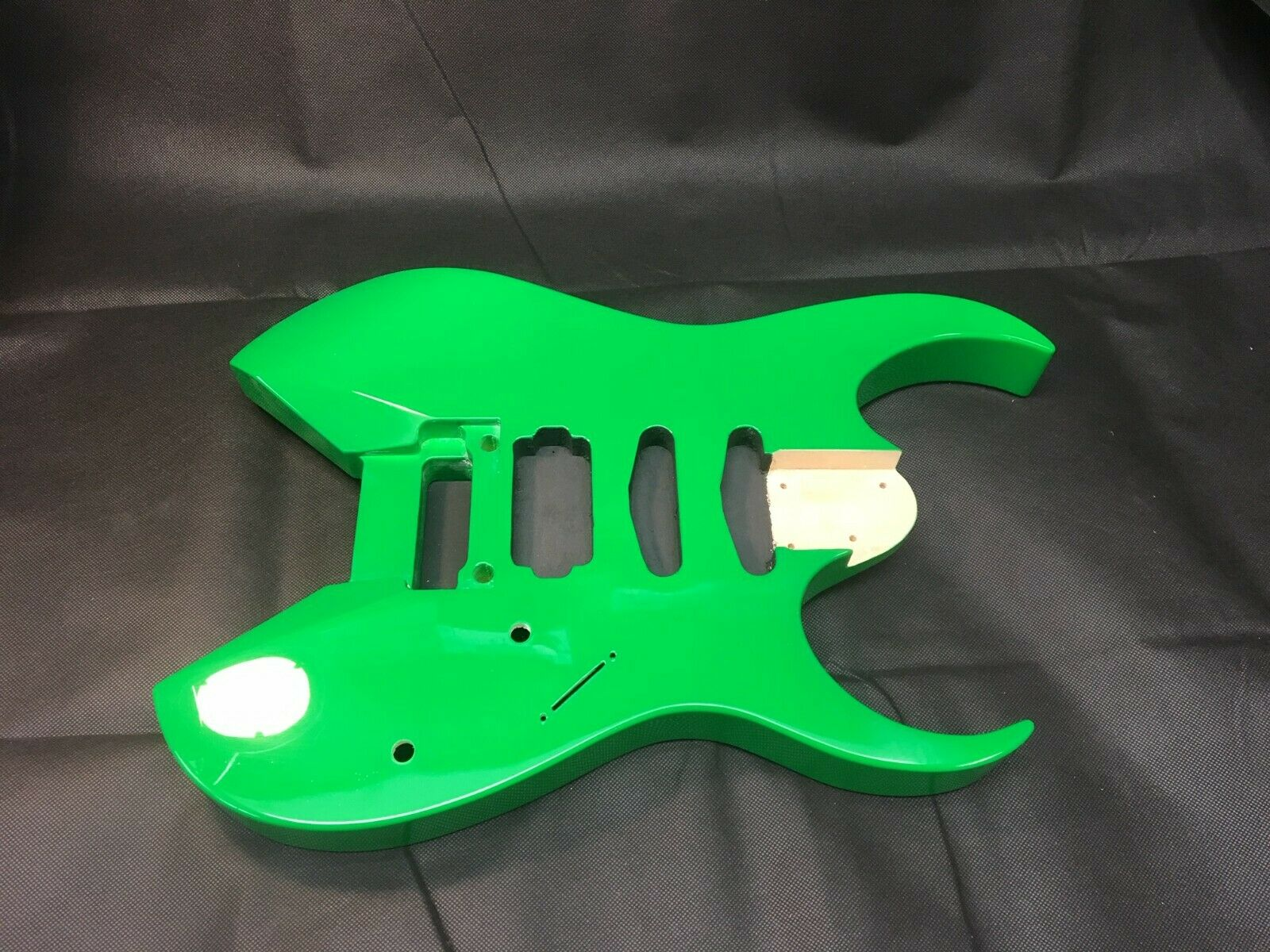 Basswood Voyager style, 6 string guitar body, HSS, rear route - RB038