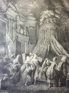 Baudouin-the-Laying-of-the-Bride-18th-Reprint-Gravure-of-1920