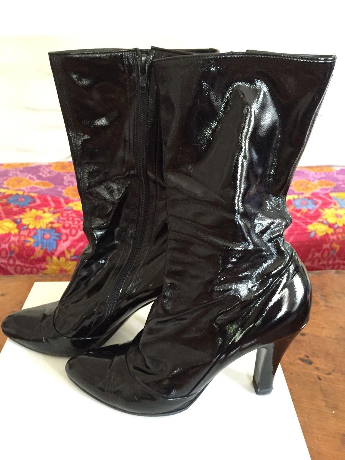 Senza tasse MARC JACOBS SEXY SEXY SEXY nero PATENT LEATHER HIGH HEEL MIDI scarpe avvio avvioIES 39 9  centro commerciale online integrato professionale