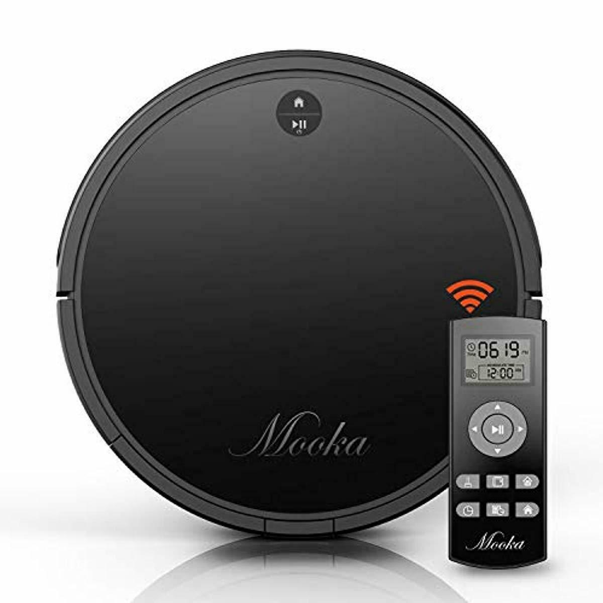 Robot Vacuum Cleaner, Mooka Auto Robotic Vacuum Cleaner with Powerful Suction, S