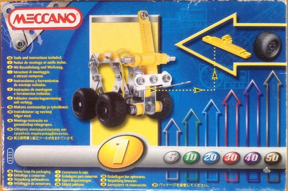 MECCANO 1511 MOTION SYSTEM NEW SEALED BOX 87 PARTS TOOLS TOOLS TOOLS & INSTRUCTIONS INCLUDED a7b9b8