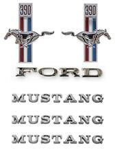 NEW! 1967 Ford Mustang 390 Running Horse Emblem Kit Fenders Hood Trunk 6 pc Set