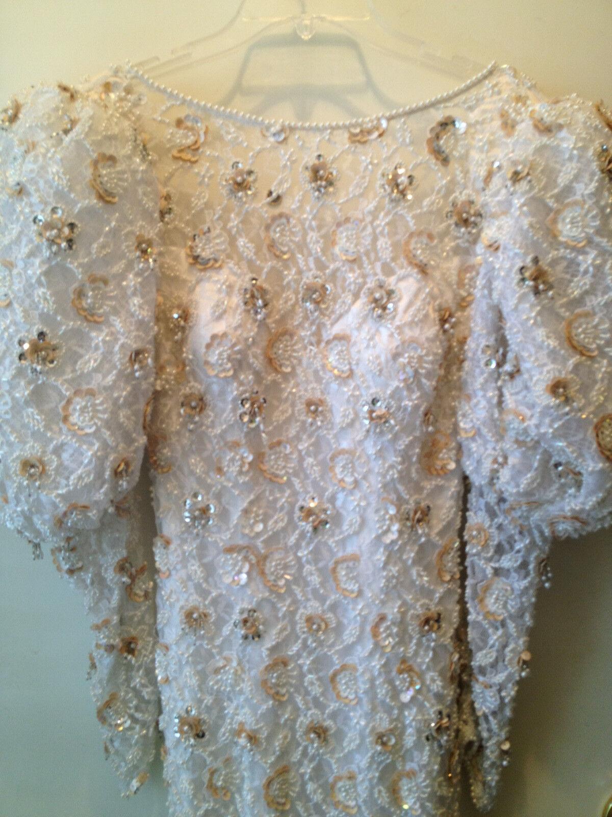 Womens Claire Beaded Wedding Dress  - image 1