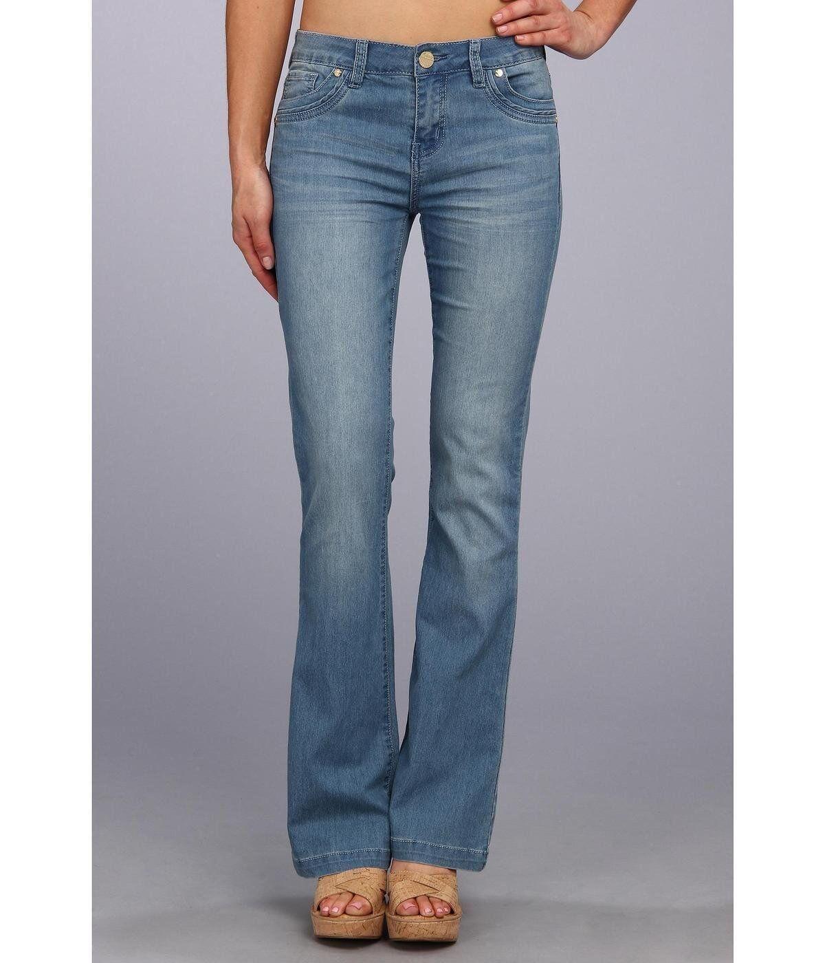 Buffalo David Bitton 'Ferria' Mid-Rise Flare Jeans in Sky Wash Sz 29 stretch New