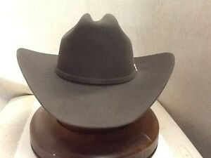 159fcf42442 Stetson Cowboy Hat 6X Beaver Fur 150th Spirit Dr.Grey No Tax Sale+ ...