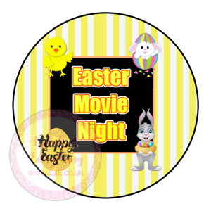 Easter Movie Night Popcorn Hotdog Family Film Cinema Sweets Cone Party Kids