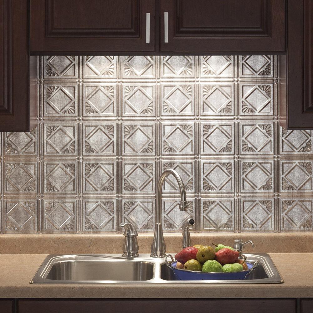 - Kitchen Backsplash Decorative Vinyl Panel Wall Tiles Bathroom