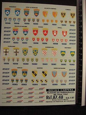 CARPENA  8748 DECALS TRAIN 1//87 BLASONS DE PARRAINAGE DIVERS BB 15048-15065
